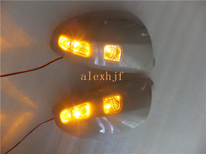 LED Rear-view Mirror Lights With Cover, LED Yellow Turn Signals Light case for INFINITI FX35 FX45 2003~2008, free shipping