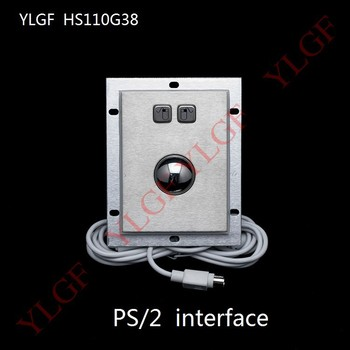 Trackball Mouse Ylgf PS/2 Interface Embedded Industrial Mouse Waterproof (Ip54) , Dust Anti Violence Stainless Steel Ring