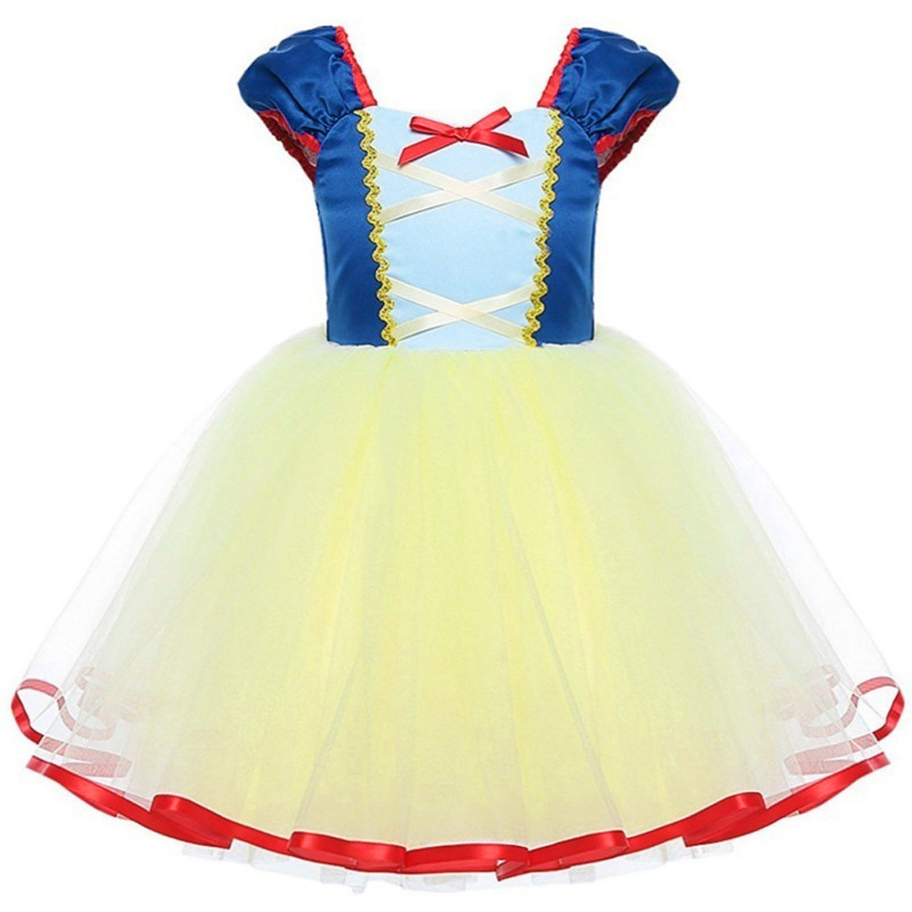 Snow White Princess Lace Cosplay Dresses for Girls Party Dress Children's Tulle Dress