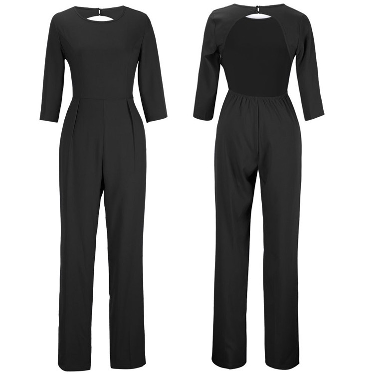 black jumpsuits details