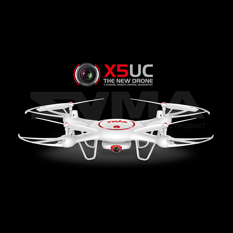 SYMA X5UC Drone With 2MP HD Camera Helicopter Height Hold One Key Land 2.4G 4CH 6-Axis RC Quadcopter VS SYMA X5SW syma x5sw 4ch 2 4ghz 6 axis rc quadcopter with hd camera hovering headless mode rc drone 1200mah battery prop 4pcs motor 2pcs