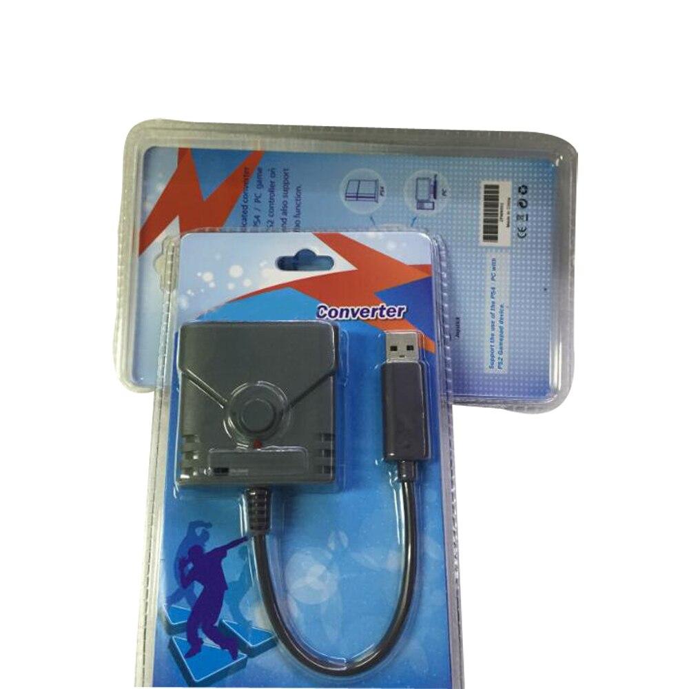 10 piezas de alta calidad USB Gamepad del regulador del convertidor de adaptador de conector para PS2 a PS3/PS4 Joysticks para Playstation 3/4