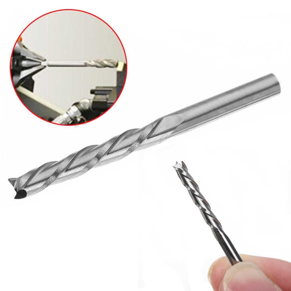 """1pc 3 flet End Mill 1/8 """"3.175mm Shank frez Router Bit 22mm długość dla elektronarzędzia"""