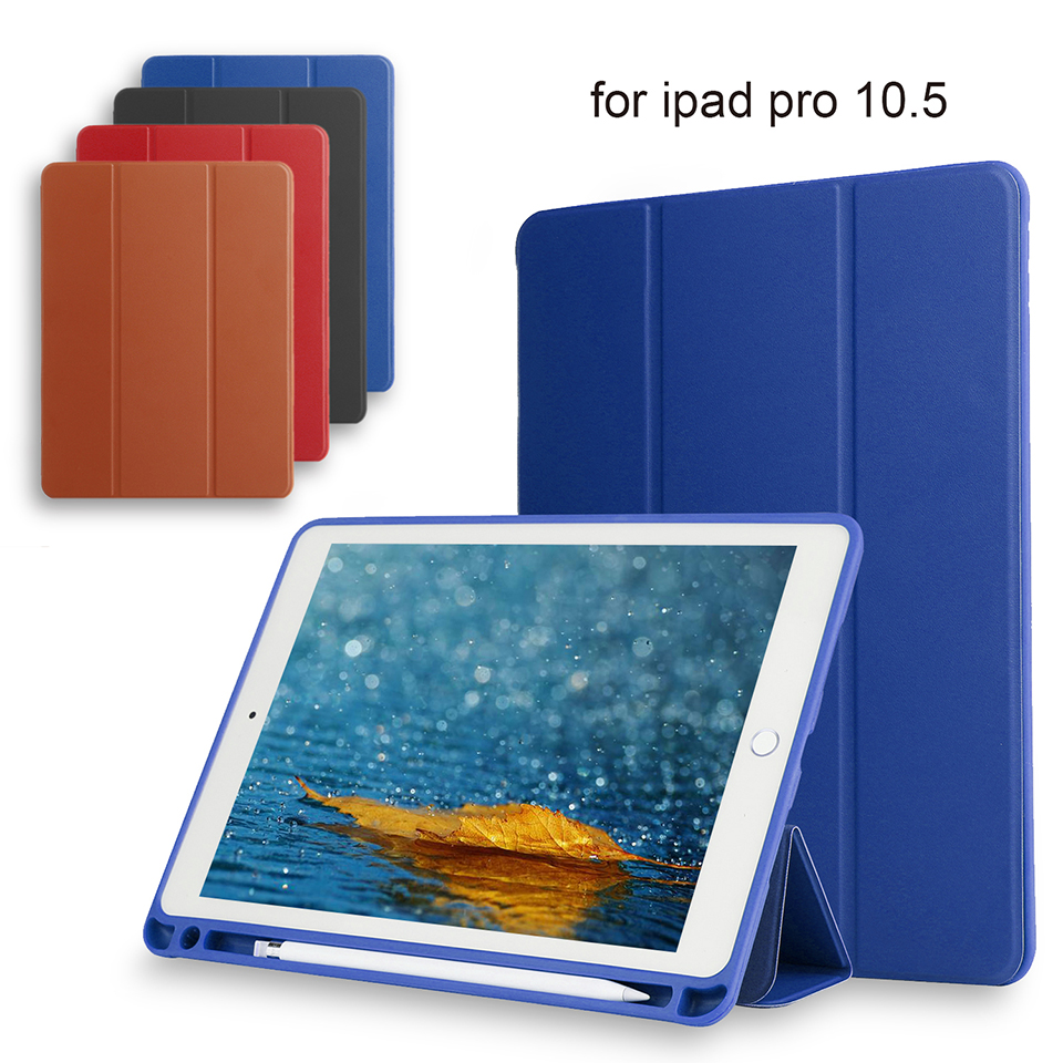 For iPad Pro 10.5 Case PU Leather Slim Smart Cover With Auto Sleep/Wake For Apple iPad Pro 10. 5 inch 2017 Release redlai for ipad pro 10 5 inch 2017