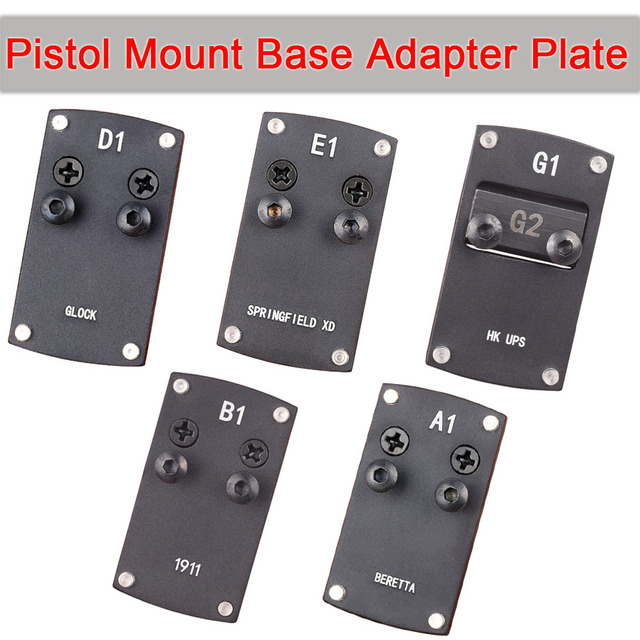 WIPSON  glock Colt 1911 Berreta Sightmark HK USP Springfield XD Micro Reflex Red Dot Sight Pistol Mount Base Adapter Plate