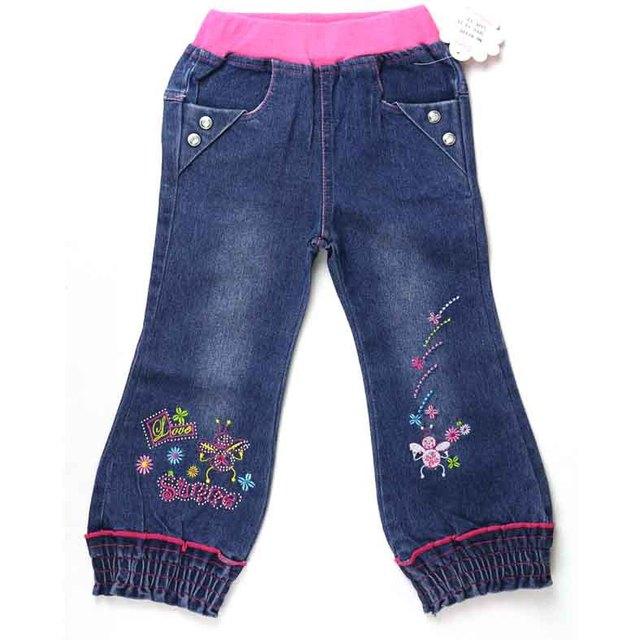Pantalones Vaqueros de las muchachas Bloomers abejas floral bordado rhinestone niños Denim pantalones Carotte Cigarro de Calidad Superior ropa Legentsy ZQ81716