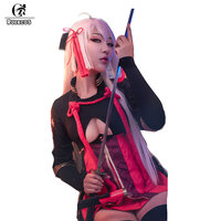 ROLECOS Game FGO Fate Grand Order Cosplay Costumes Okita Souji Alter Devil Saber Evil Combat Suits for Women Cosplay Costumes