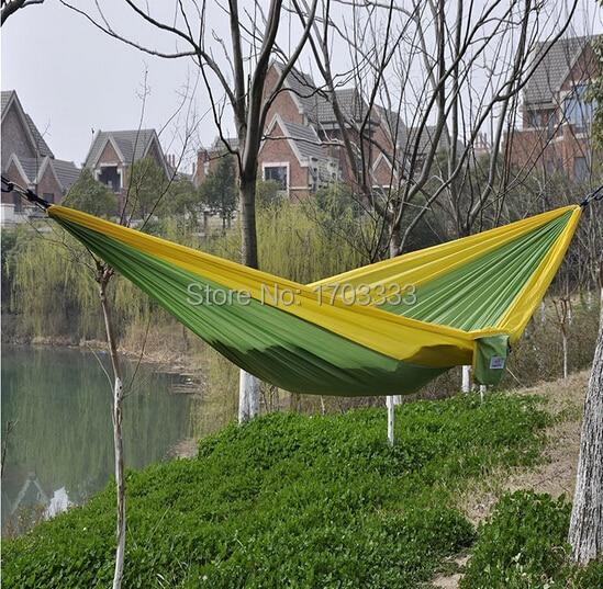 Wholesale 100pcs Outdoor Parachute Cloth Sleeping Hammock Single Camping Hammock Free Shipping