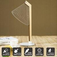 Creative 3D Visual Acrylic Desk Lamp USB Table Lamp LED Night Light Home Decoration Bedside Light