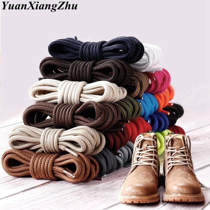 1 par redondo cadarços poliéster sólido clássico martin boot cadarço casual botas esportivas sapatos rendas 90 cm/120 cm/150 cm 21 cores