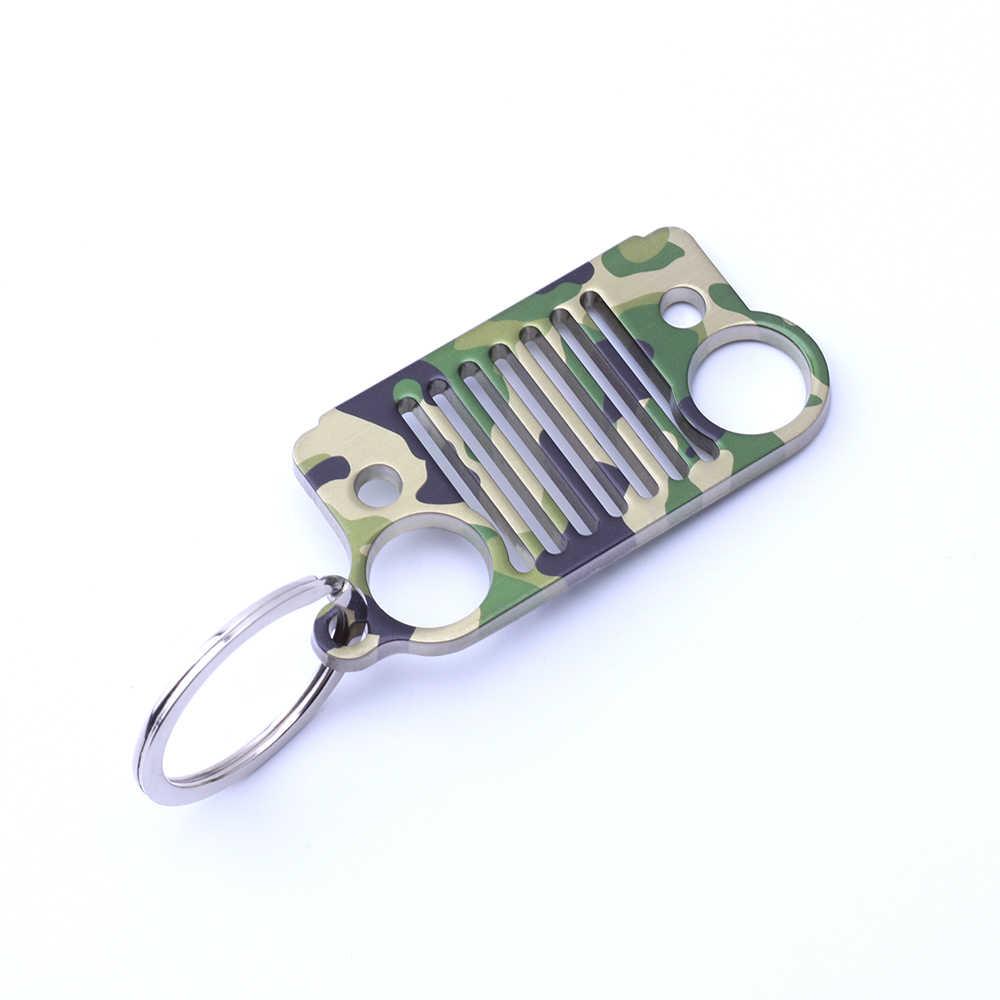 Armsky 8 разноцветное кольцо модная цепочка для ключей Автомобильный Брелок серебряное кольцо из нержавеющей стали брелок стиль кольцо для джипа Perfer подарок