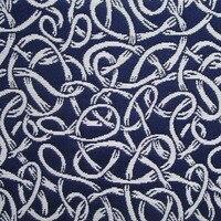 1 האופנה חצר פוליאסטר בד ארוגים שחור אוקראינה ההלבשה חיל הים מזדמן מעצב סגנון מופשט בד תפירת diy tissu בד שקית