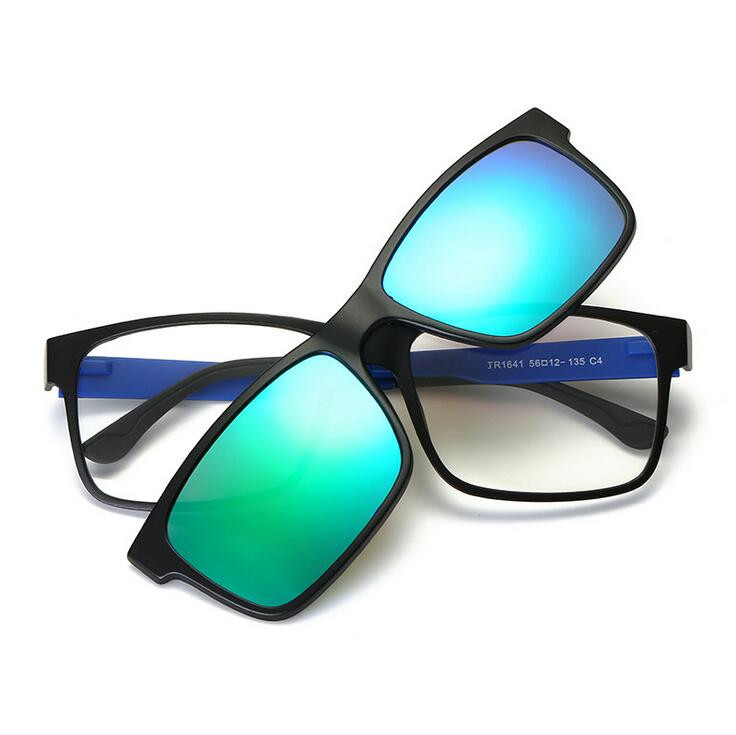 72d82c90f63 Detail Feedback Questions about Include Frame Polarized Clip On Sunglasses  Men Magnetic Clips Night glasses drive TR90 optical Glasses Frames 1641 on  ...