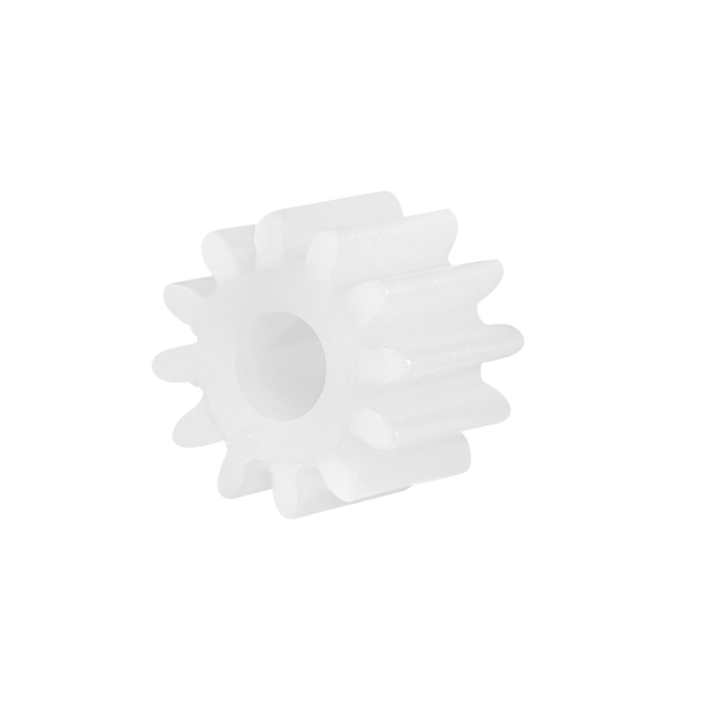 Uxcell 10Pcs/lot 123A 12 Teeth 3mm Hole Diameter Plastic Shaft Gear 5x7mm Toy Accessories For DIY Car Robot Motor