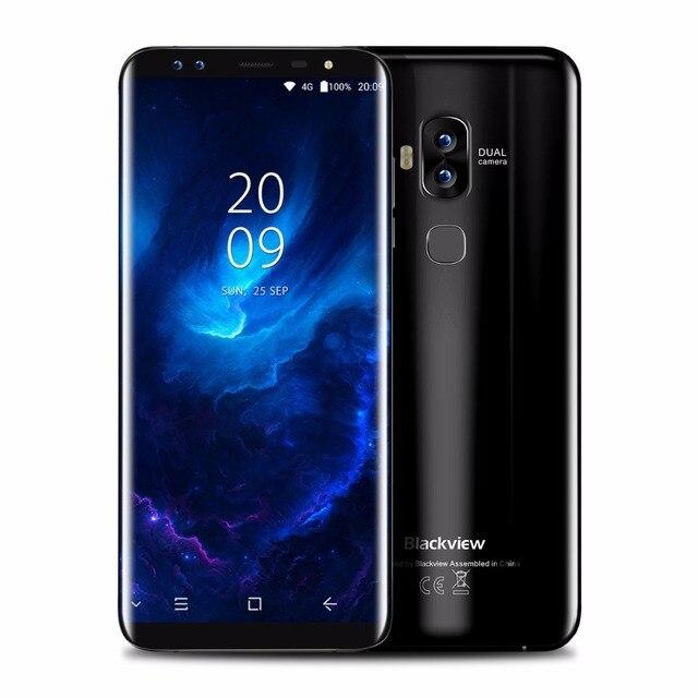 """Blackview S8 5.7 """"четырьмя камерами 18:9 смартфон 4 г Оперативная память 64 г Встроенная память mt6750t Восьмиядерный отпечатков пальцев otg 4 г LTE отпечатков пальцев Мобильные телефоны"""