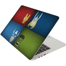 The Avengers 4 Superhero Laptop stickers Skin for Macbook Pro Air Retina Notebook Decal