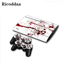 Popular Design Vinyl Skin Sticker For PS3 Super Slim 4000 and 2 Controller PVC Skins Stickers For Sony Playstion 3 Slim 4000(China)