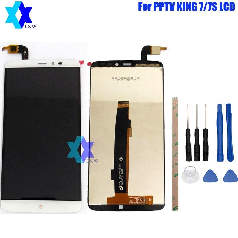 Pour D'origine PPTV ROI 7/7 S LCD Display + Écran Tactile Panneau Numérique Pièces De Rechange Assemblée 6.0 pouce 2560x1440 P
