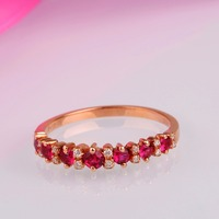 Robira Free Shipping Ruby Ring 18K Rose Gold Sapphire Gemstone Rings For Valentine S Day Ring