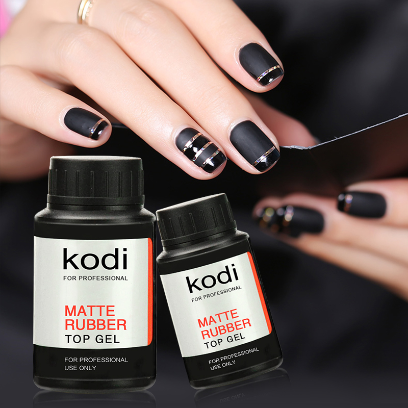 2017 New Kodi Rubber Matt Top Coat 30ml/ 14ml UV LED Nail Gel Polish Soak-Off Matt Top Varnish Transparent Color Primer Lacquer