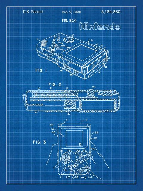 F3617 24x32 inch gameboy video game system patent art blueprint f3617 24x32 inch gameboy video game system patent art blueprint poster printing edmonton motivation science malvernweather Images