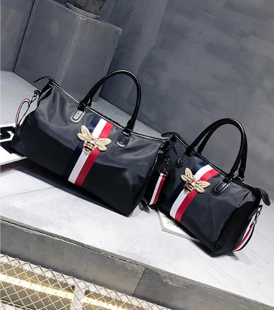 New color bee travel bag, portable large capacity bag, waterproof duffel bag Free