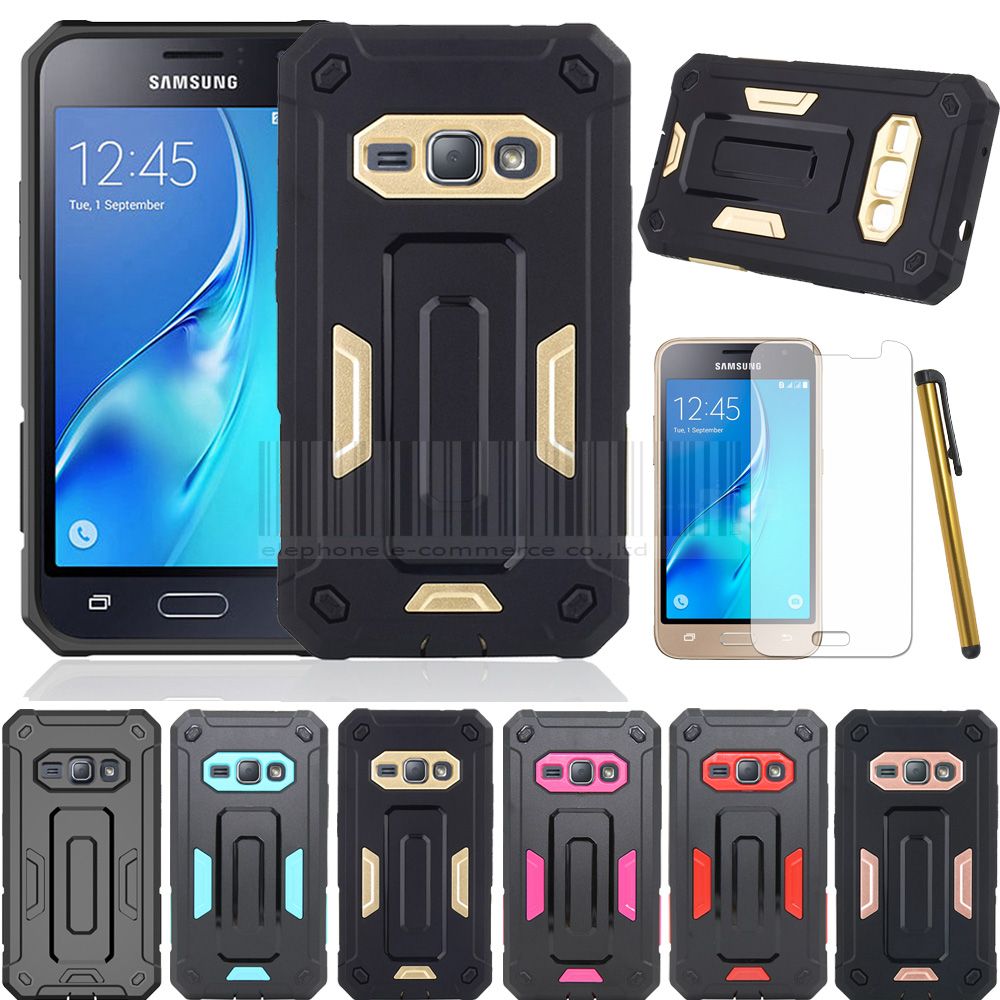 For Samsung Galaxy Express 3 Double Protective Slim Jazz Armor Hybrid Impact Hard Back Case Cover With Films+Stylus