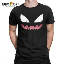 Pokemon T-Shirt Haunter Ghost Gengar Kaiju Pokeball Pikachu Anime T Shirt Men Pure Cotton Tees Short Sleeve Clothing Classic(China)