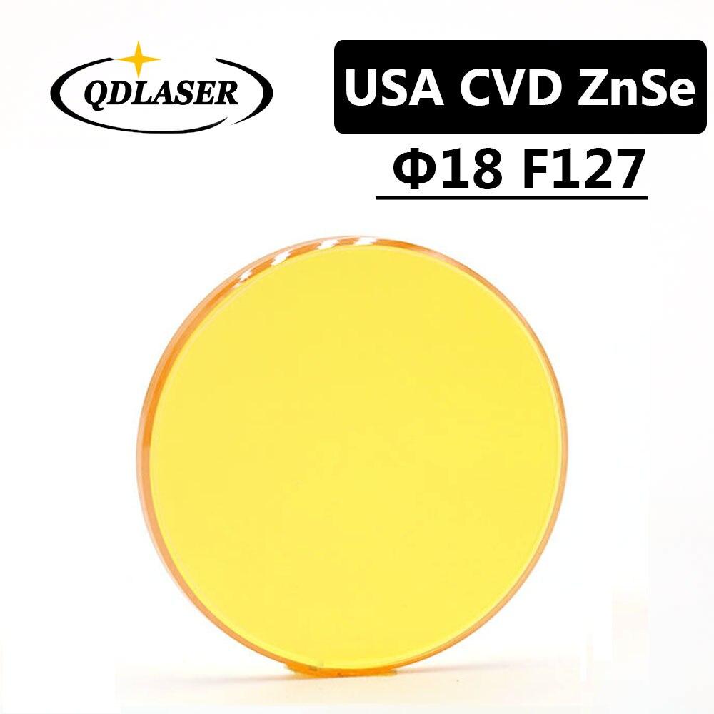 USA CVD ZnSe Laser Focus Lens Dia. 18mm FL 127mm 5 for CO2 Laser Engraving Cutting Machine