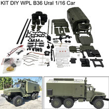 WPL B36 RC Truck Ural 1/16 Kit Assembly Type 2.4G 6WD Electric Off-Road Car Military Truck RC Crawler Toys Remote Control Car(China)