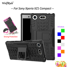 For Cover Sony Xperia XZ1 Compact Case TPU&PC Holder Armor Bumper Protective Phone Case For Sony Xperia XZ1 Compact Cover 4.6'' g case slim premium чехол для sony xperia xz1 compact black