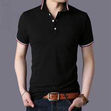 2019 Summer Men Polo Shirt Men Business Casual 95% Cotton Brand New Male Short Sleeve Polo Shirts Plus Size 3XL