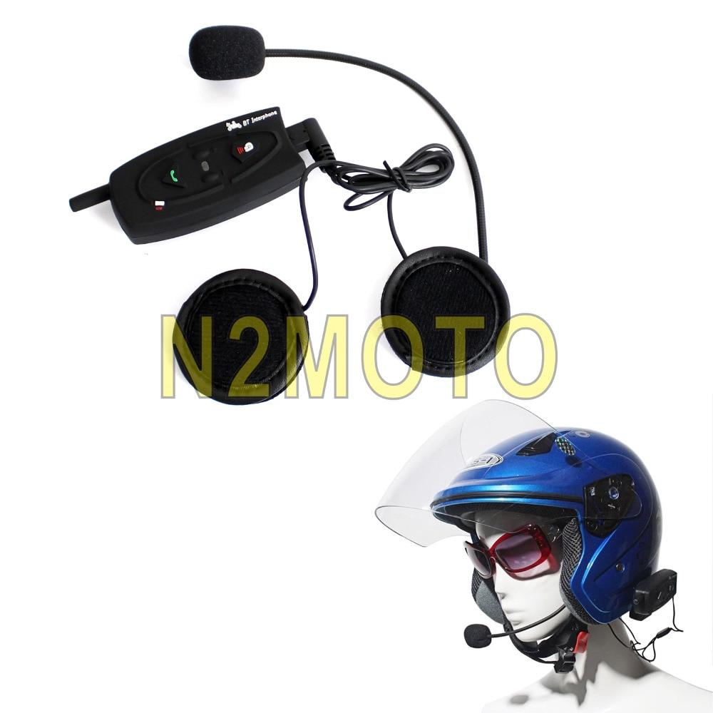 Motorcycle Wireless Helmet Headset 500M Bluetooth Intercom Rider Skier BT Interphone