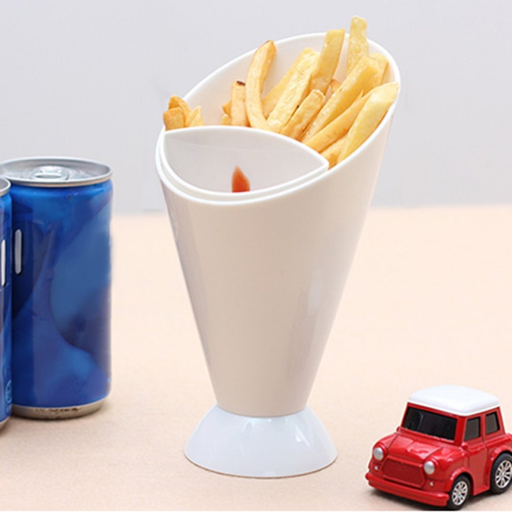 PREUP French Fry Cone & Dipping Cup Kitchen Potato Tool Tableware 166xDia97mm