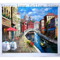 Beautiful Wall Art Poster Venezia Venice Landscape Oil Canvas Painting Italy 100% Handmade Painting Art For Home Decoration Gift