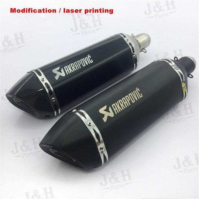Moto modificada sentimento novo off-road tubo de escape silenciador tubo de escape silenciador de carbono moto preta para zx6r gsxr750 fz8