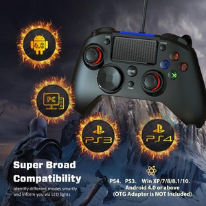 Image 4 - Mpow PS4 Game Controller USB Wired Gamepad Multiple Joystick Vibration Handle 2M Cable Gamepad for iPhone iPad PC for PS4/PS3