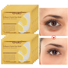 EFERO 24K Gold Crystal Collagen Eye Mask Hydrogel Patches For The Eyes Care Anti Aging Remove Dark Circles Eye Cream 8/5Pair цена