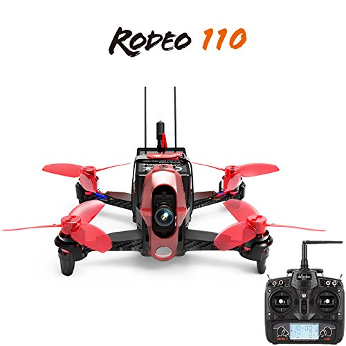 Walkera Rodeo 110 RTF with DEVO 7 Remote Controller 110mm Racing Drone Quadrocopter With 600TVL Camera Battery Charger F19843 original walkera devo f12e fpv 12ch rc transimitter 5 8g 32ch telemetry with lcd screen for walkera tali h500 muticopter drone