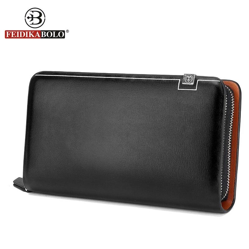 FEIDIKABOLO Men Wallets Monederos PU Leather Male Purse Men's Standard Wallet Carteiras Billeteras Mujer Clutch Man Handy Bags
