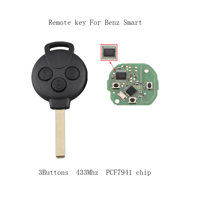 Aliexpress.com : Buy 3Buttons 433mhz PCF7941 chip Complete ...
