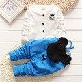 2016 novo venda quente bebê crianças crianças conjuntos de roupas meninas Suspender calças conjuntos de roupas crianças