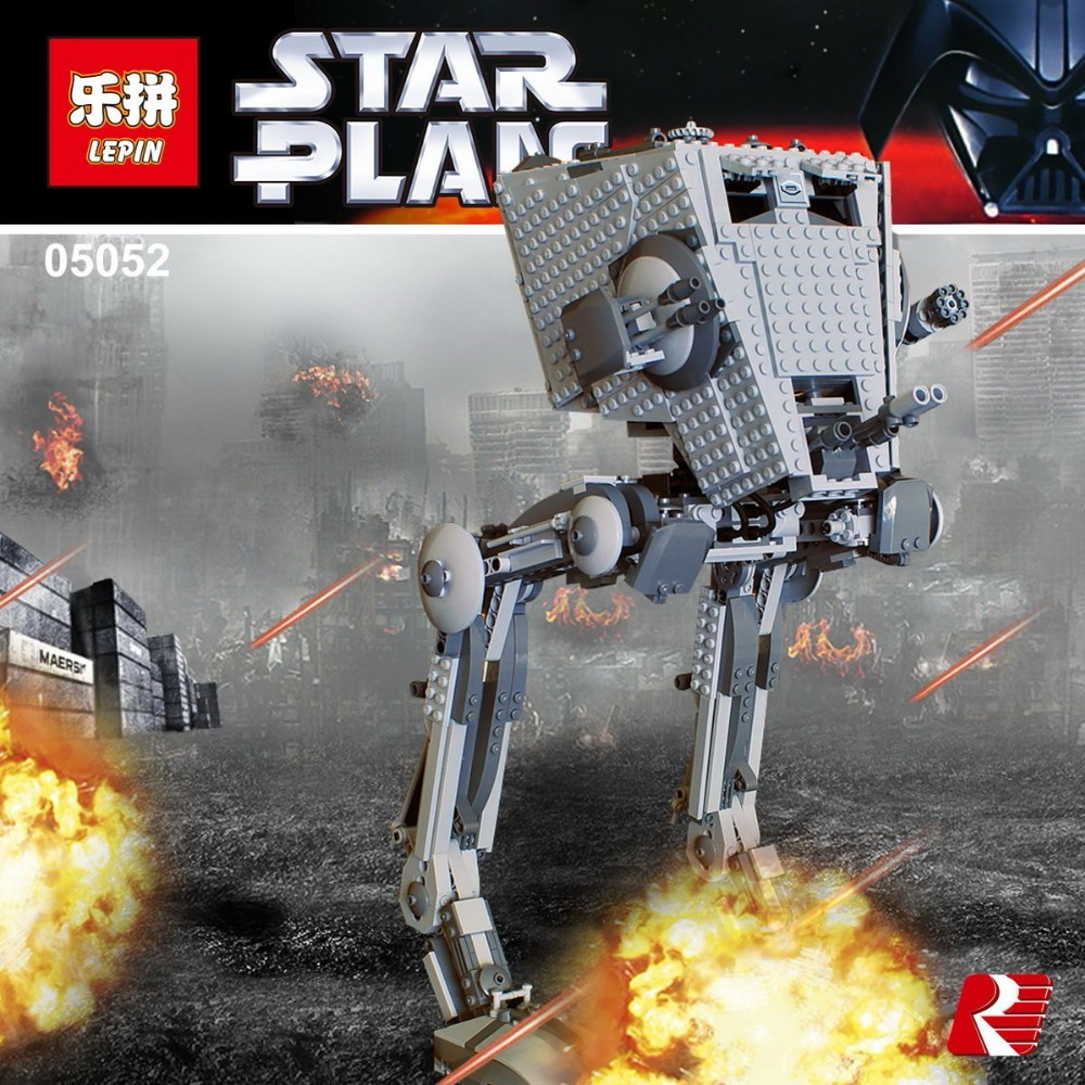 Lepin 05052 Star Wars AT-ST Walker Building Blocks Bricks Set Toys Educational Gifts Toys Compatible with Lego 75153 shirly new rest stop dream house building blocks compatible with lego bricks girl s educational toys birthday christmas gifts