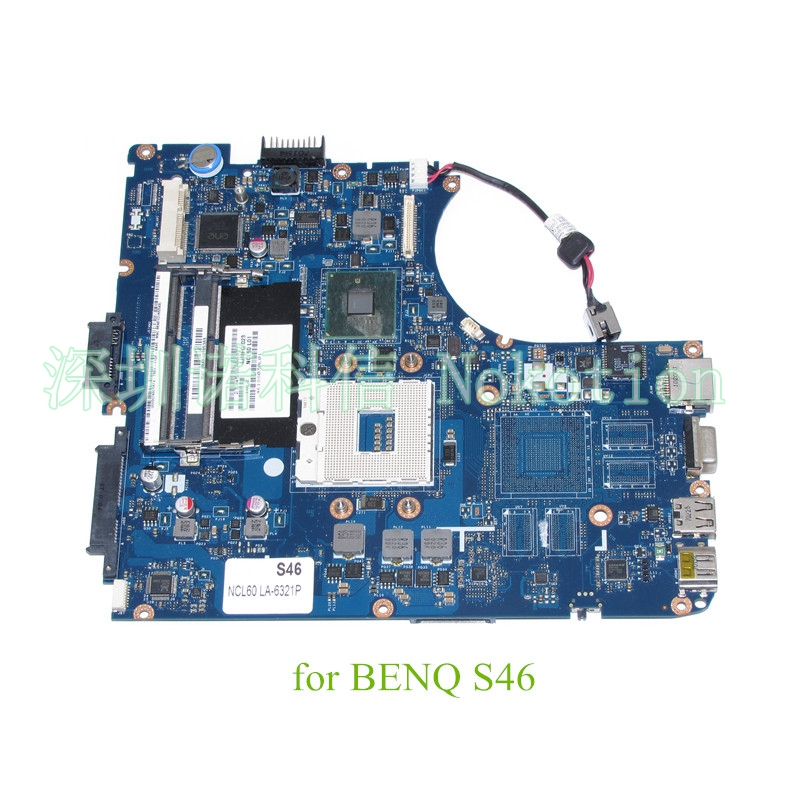 LA-6321P NCL60 Laptop Motherboard for BENQ JOYBOOK S46-Series System board Motherboard HM55 s989 Integrated warranty 60 days