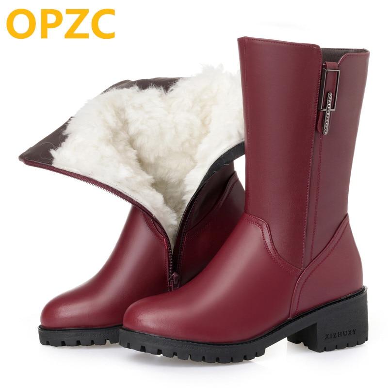 dcd3ecdc689f5 AIYUQI Australian wool Women snow boots