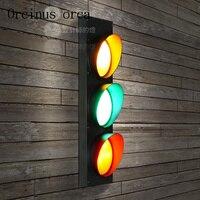 American Industrial Wind Traffic Lights Wall Lamps Restaurants Cafes Bars Children S Room Lights Creative Outdoor