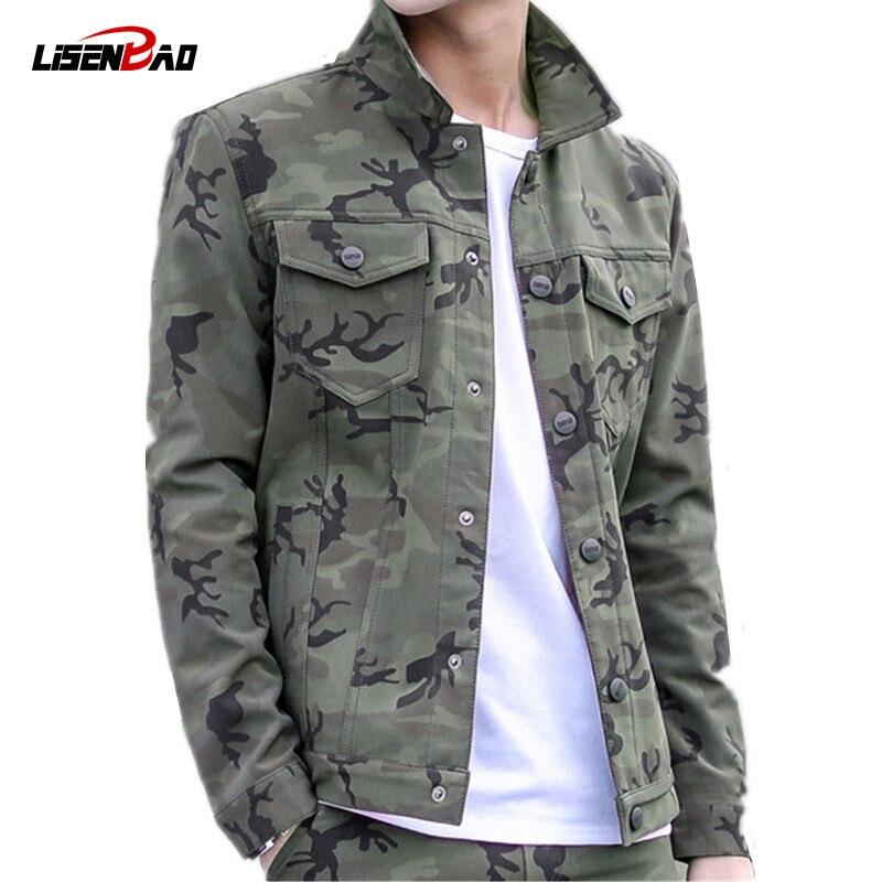 LiSENBAO Militaire Veste Hommes Manteau Armée Vert Veste Hommes Camouflage Veste Casual Marque Vêtements Plus Taille 3XL Manteaux