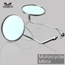 8/10mm Motorcycle Rearview Mirrors side Mirror round mirror for DUCATI KTM KAWASAKI SUZUKI YAMAHA HONDA R1 R6 FZ6 GSXR 600 750 h2cnc stabilizer steering damper for ktm suzuki gsxr 600 750 1000 yamaha ducati 749 honda cbr 600rr 1000rr kawasaki aprilia bmw