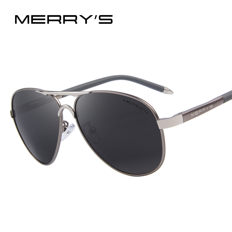 MERRY S Aluminum Sunglasses Men Brand Designer font b Polarized b font Mirror Sun Glasses Male