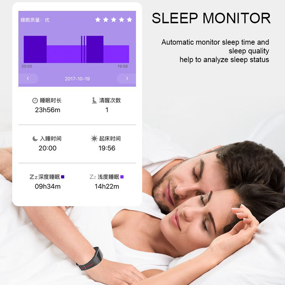 Hangrui P3 Heart Rate Tracker PPG ECG Smart Bracelet Blood Pressure Fitness Tracker Wristband Waterproof Sport Watch Wrist band (9)